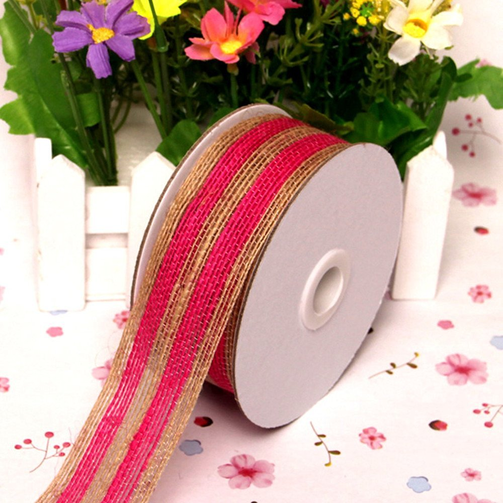 5M* Color Burlap Ribbon Fishing Line Pattern for Christmas Wedding ...