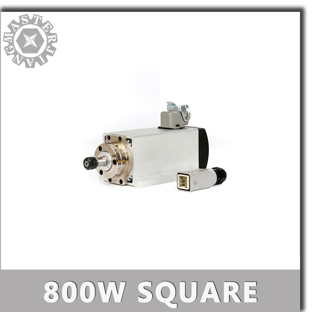 220V CNC Spindle 0 8KW Square Spindle Motor Air Cooled Motor cnc 800W Spindle Motor Machine