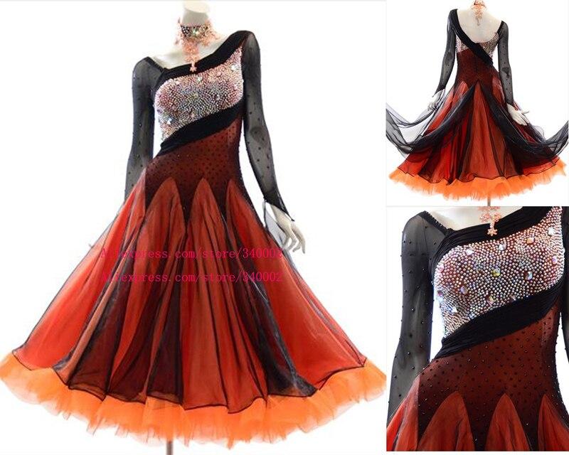 Nouveau Design Standard robe de danse de salon de haute qualité élégante robe de bal valse concours de danse robes femmes