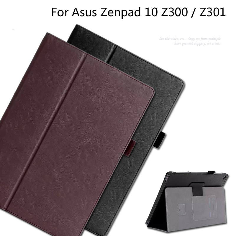 PU leather Cover Card Holder Hand Strap Case For Asus Zenpad 10 Z300 Z300C Z300CG Z301 Z301ML Z301MFL 10.1 inch Tablet + Gift cover case for asus zenpad s z580 c 8 smart protective cover pu leather zenpad s 8 0 z580ca z580c 8 inch tablet pc stand cases