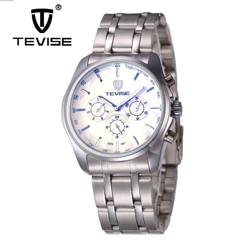 ФОТО 2017 Tevise Casual Watch Men's Day/Week/24Hours Auto Mechanical Watches Stainless Steel Wristwatches Gift Box Free Ship