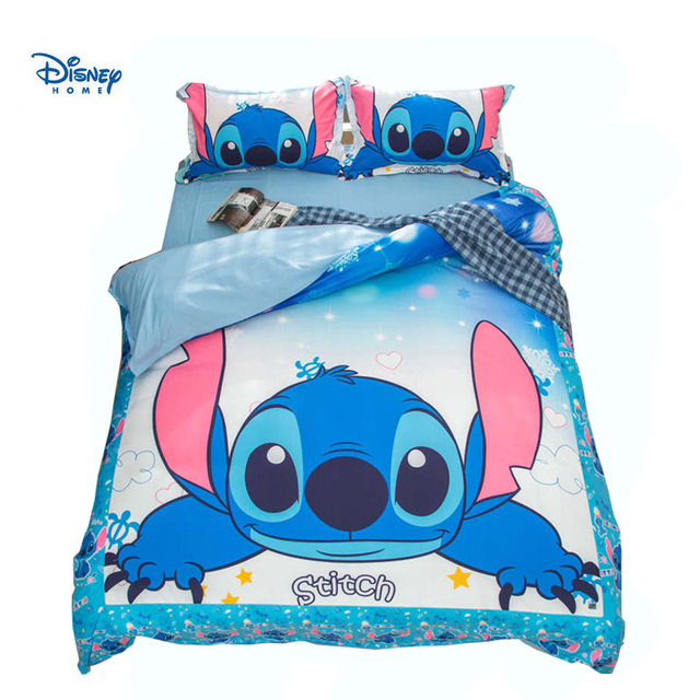 Cute Stitch Bedding Set Queen Size Twin King Comforter Cover 3 4 Pcs Girl