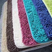 Non-Slip Bath Mat Microfiber Chenille Bathroom Rugs Carpet Shag Shower Rugs Super Soft Multi Sizes