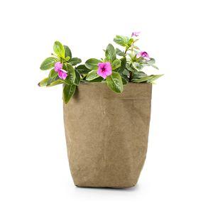 Image 5 - Washable Kraft Paper Bag Plant Flowers Pot Multifunction Home Storage Bag Reuse Art Vase Pot Reusable For Home Decor