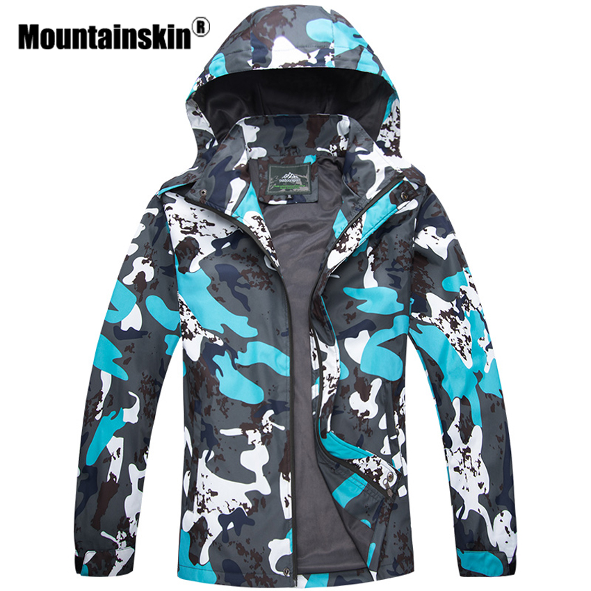 Mountainskin Camouflage Men's Jackets 5XL Casual Hooded Coats Men Women Outerwears Waterproof Brand Camo Male Jackets Army SA277-in Jackets from Men's Clothing