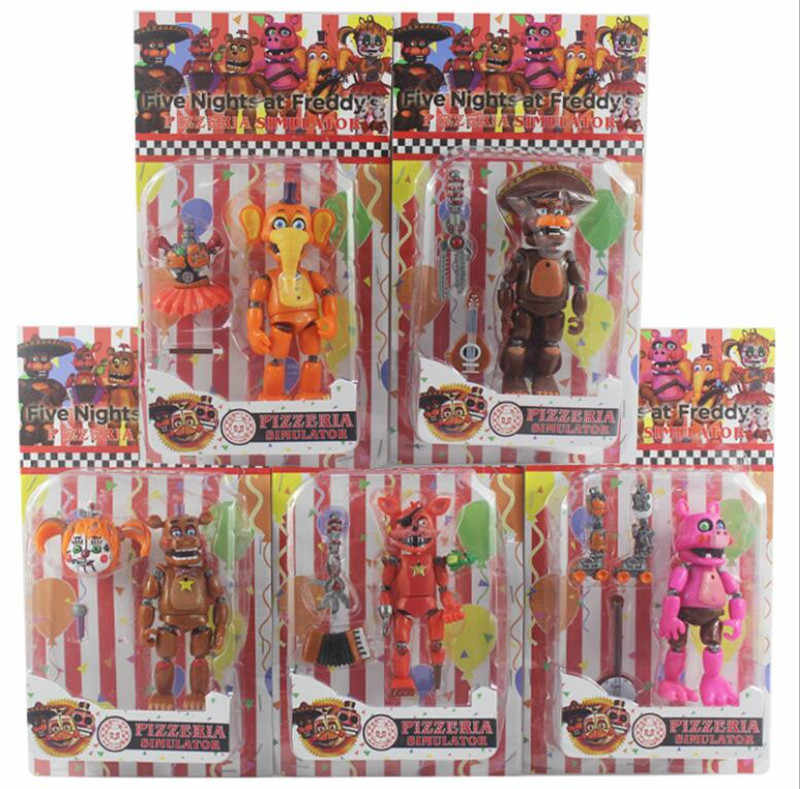 Five Nights At Freddy Action Figure Toy FNAF Bonnie Foxy Freddy Fazbear Bear Dolls Toys DIY Assembly