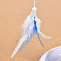 Newly Pet Cat Electric Toys Teaser Interactive Cats Toy Rotating Funny Feather Toys Pets Products TE889