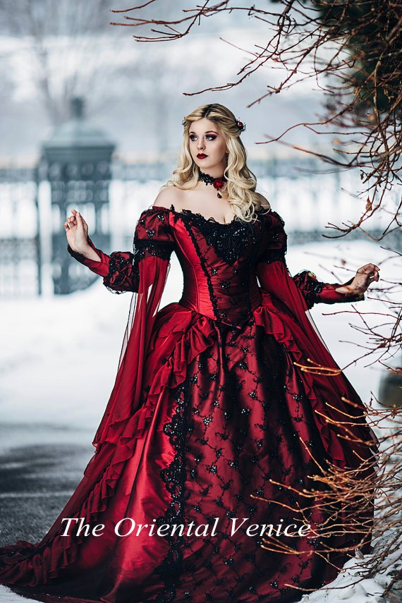 Online Get Cheap Red Black Wedding Dress -Aliexpress.com | Alibaba ...