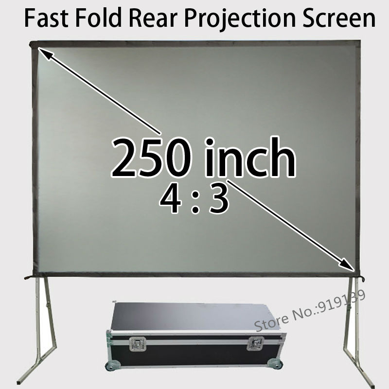 Projector Screen Size 5.08x3.81 Meters Rear Projection Film 250inch For Outdoor Indoor Community Events Display hot selling 84 inch 16 9 format fast quick fold projector screen for many size front and rear projection screen