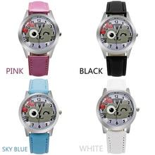 ot 2016 fashion hot high quality cute casual watch quartz movement leather watch ladies children elegant kitten quartz watch