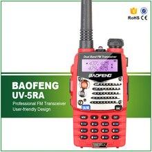 Baofeng original vermelho UV 5RA em dois sentidos presunto rádio portátil comunicador vhf uhf banda dupla walkie talkie ptt pmr conversa caminhada