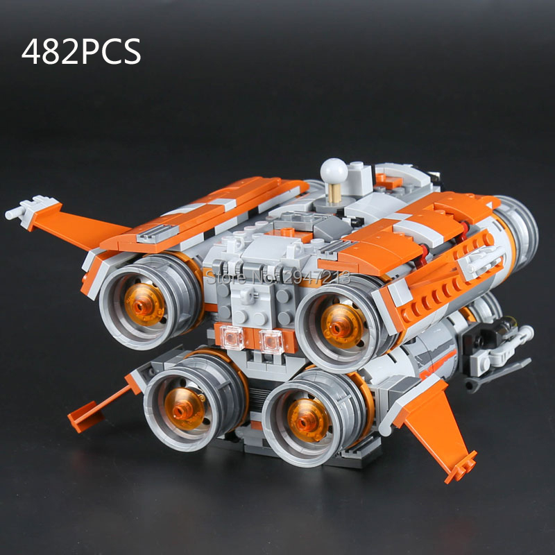 hot compatible LegoINGlys Star Wars Building Blocks Jakku Quadjumper Airship with stormtroopers BB-8 robot figures brick toys 2017 hot compatible legoinglys star wars series brick republic gunship with soldiers figures building blocks toys for children