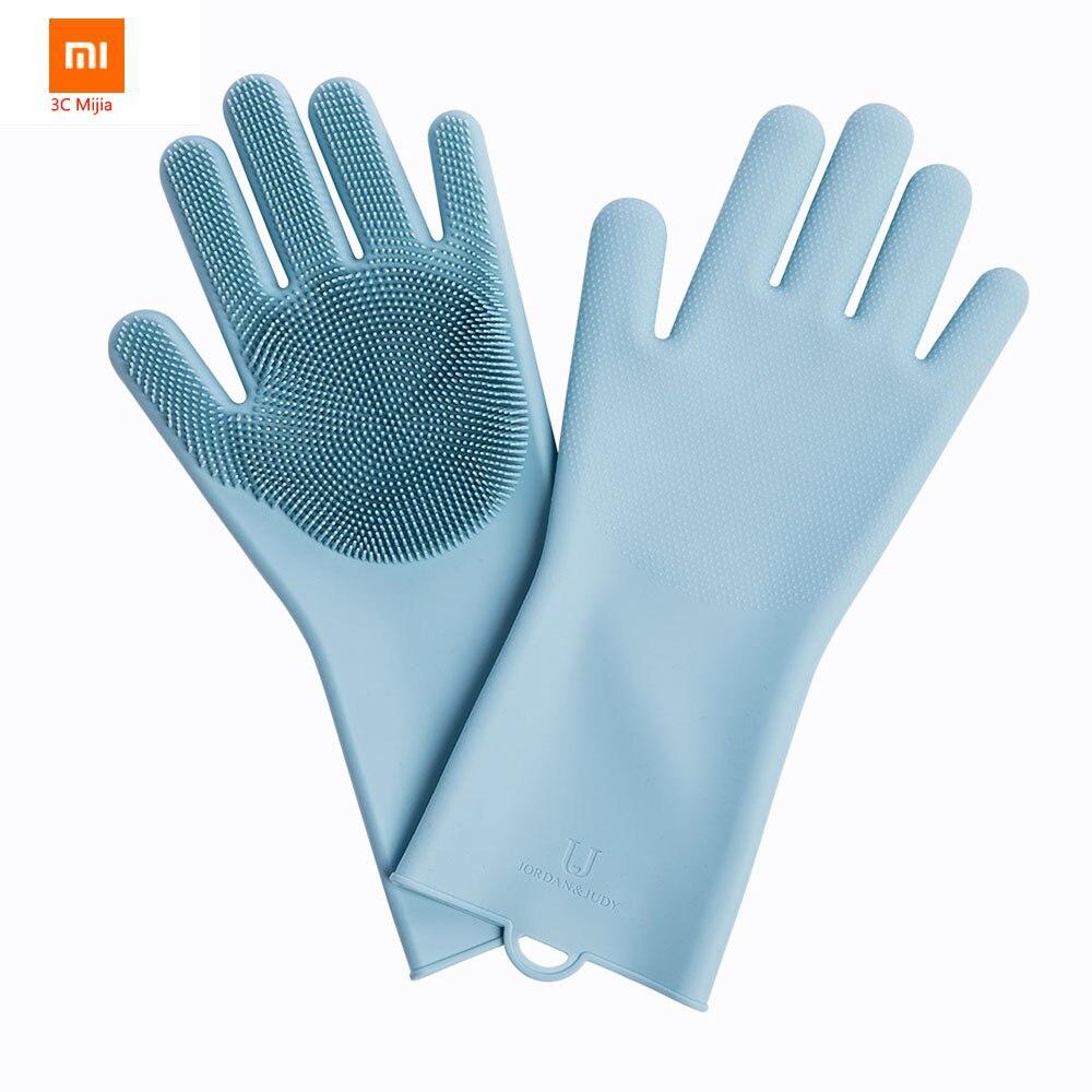 100% Verdadero Xiaomi Youpin Guantes De Limpieza De Silicona Más Nuevos Protección Ambiental Y Guantes De Aislamiento Térmico Multifuncional