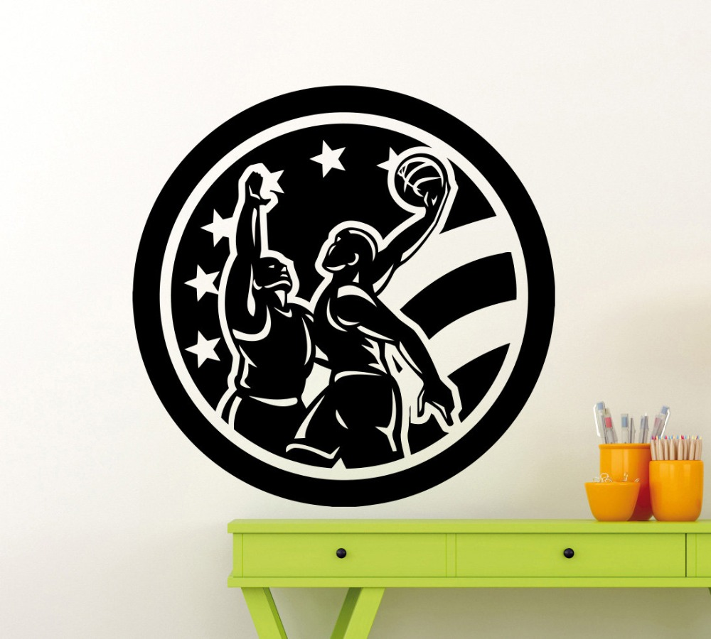 Popular removable wall stickers usa buy cheap removable wall basketball players usa flag wall sticker sports vinyl decal home decoration waterproof high quality mural removable amipublicfo Choice Image