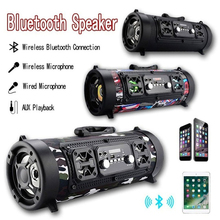 HIFI Portable Bluetooth Speaker FM Radio Move KTV 3D Sound Unit Wireless Surround TV Sound Bar Subwoofer 15W outdoor MIC Speaker цены онлайн