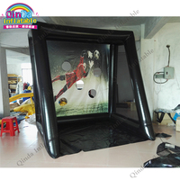 Street hockey ball inflatable shooting soccer target,low price toys inflatable football goal target