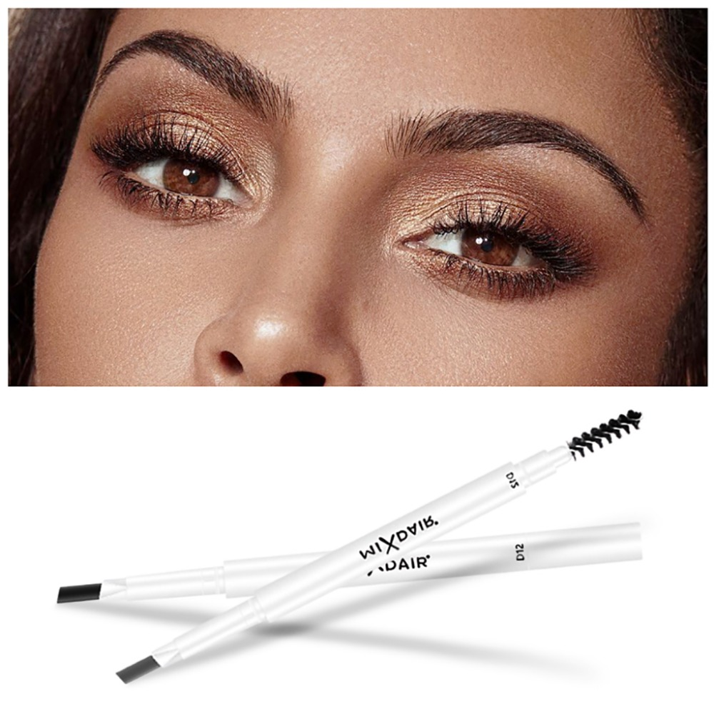 MIXDAIR dual ended eyebrow pencil with eyebrow brush fashion white apperance waterproof long lasting automatic eyebrow penMD007 4