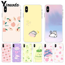 Yinuoda cute strawberry peach milk juice New Fun Phone Case Cover for iPhone 8 7 6 6S Plus X XS max 5 5S SE XR Mobile Cover(China)