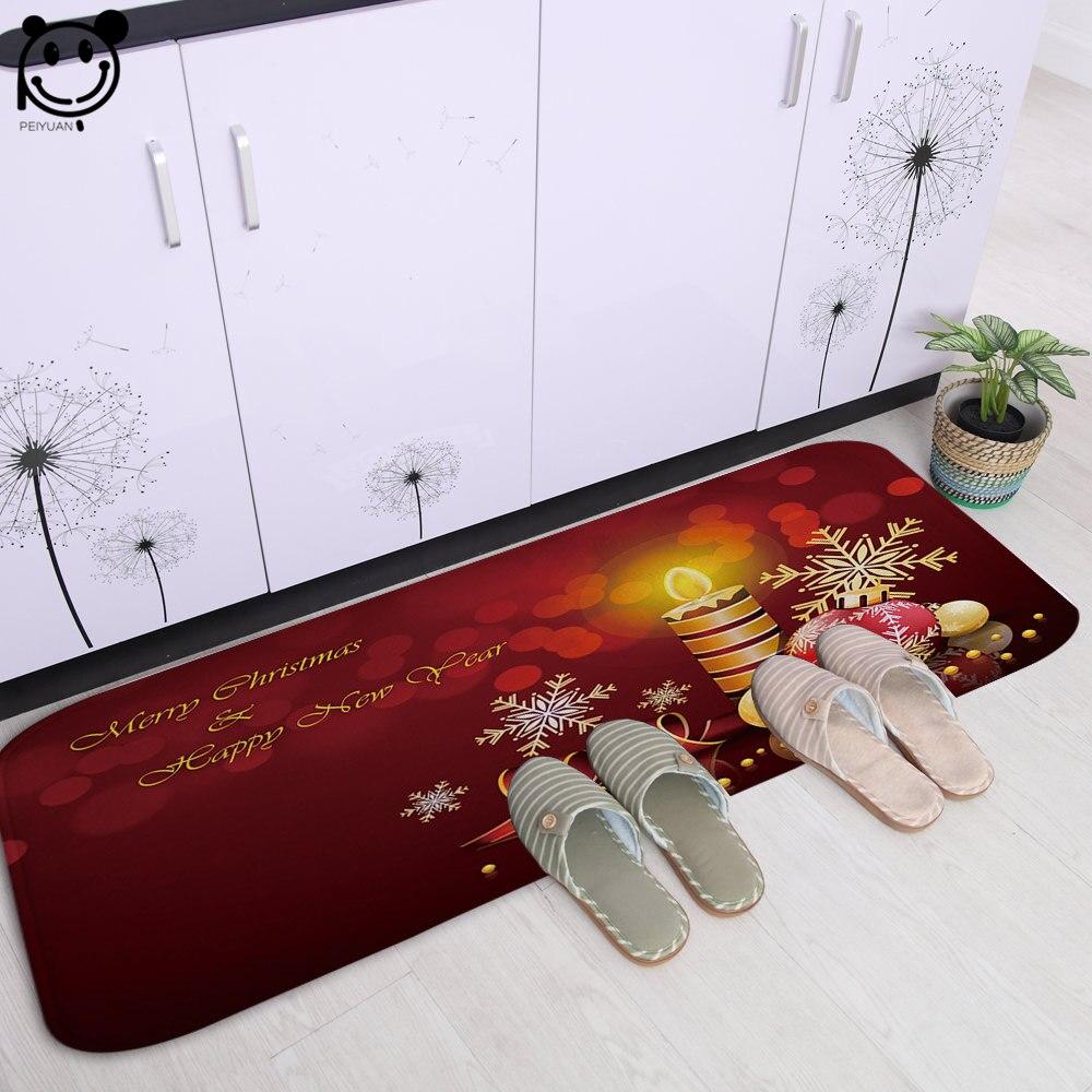 PEIYUAN impression numérique de luxe bougie dessin animé château flanelle paillasson chambre tapis cuisine tapis tapis de sol 61x183 CM