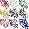 2016 Hot 100 unids colorido artesanal de cuentas de piedras naturales 3D domos Cabochon Flatback Cameo moda joyería que hace 12 mm Scrapbooking Diy
