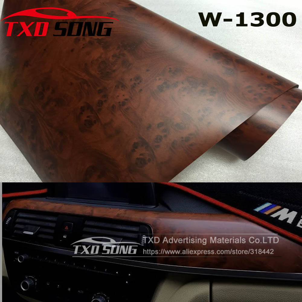W1300 WOOD Grain PVC Film Wood PVC Film For Wall Furniture Car Interior With Size:4
