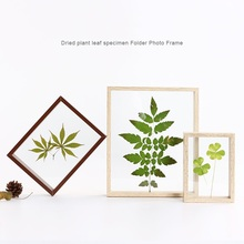 5/7/8/10 Inch Simple Plant Specimens Double Sided Glass Frame Solid Wood Creative Decor Frame DIY Art Picture Photo Frame Gifts