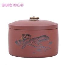 Purple sand tea Caddy large ceramic sealed cans tea cans Pu'er tea packaging box Dried fruit medicinal materials  storage tank стоимость