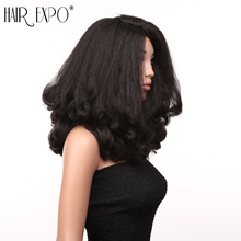 20inch Loose Wave Hair Pre Plucked With Baby Hair Synthetic Wig Fluffy Heat Resistant Cosplay Wig For Black Women Hair Expo City недорого