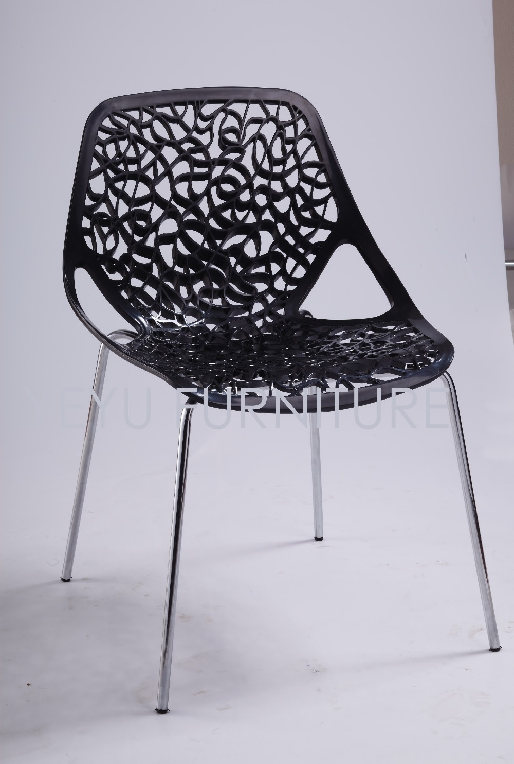 Swell Us 120 0 Minimalist Modern Design Plastic Pp Seat And Metal Steel Leg Base Side Dining Chair Fashion Living Room Leisure Chair Furniture In Dining Caraccident5 Cool Chair Designs And Ideas Caraccident5Info