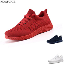 Fashion Lightweight Jogging Fitness Shoes Women Mesh Breathable Platform Sneakers Solid Casual Basic Chunky