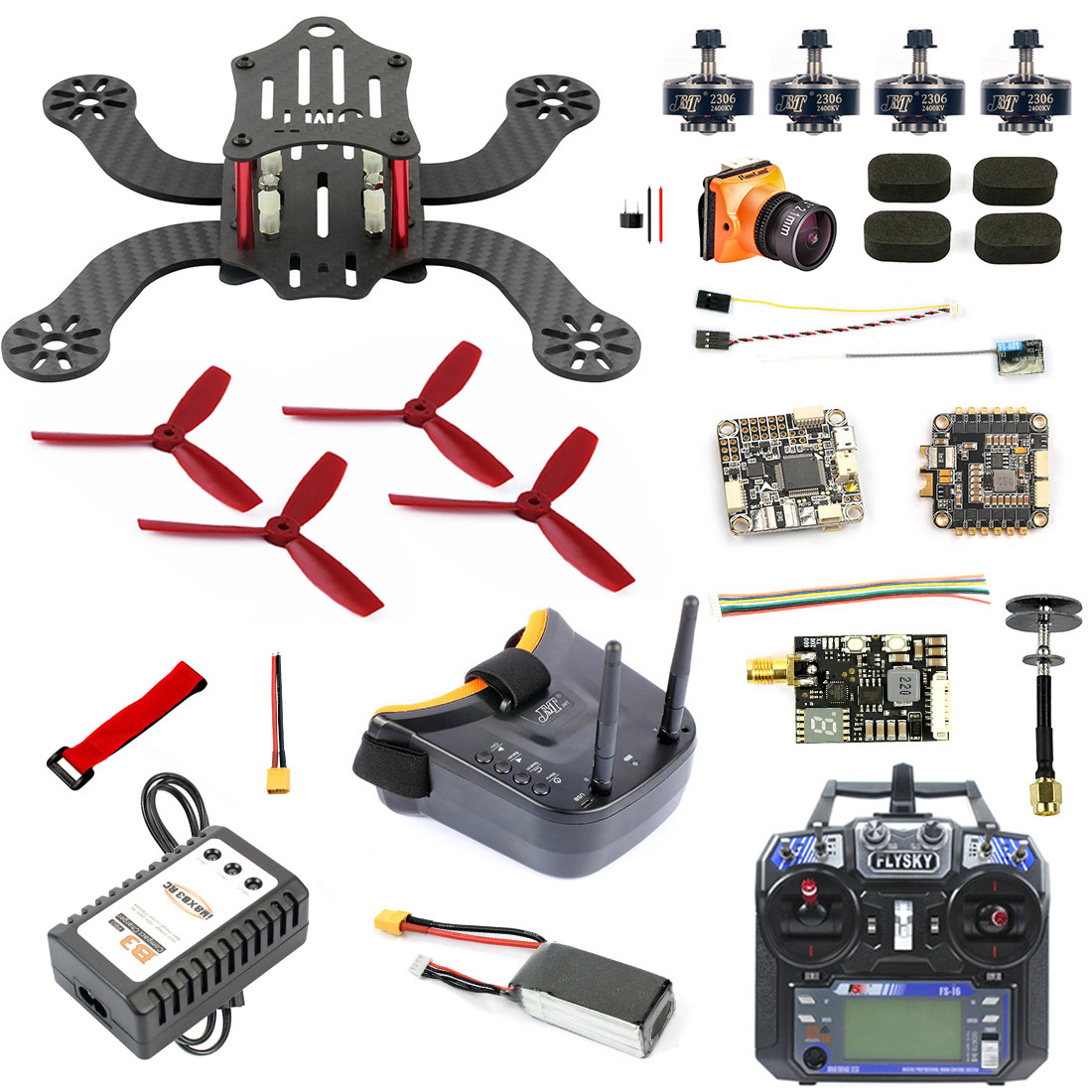 194mm Mini F4 Pro OSD RC FPV Racing Drone Quadcopter with 4 in 1 30A ESC