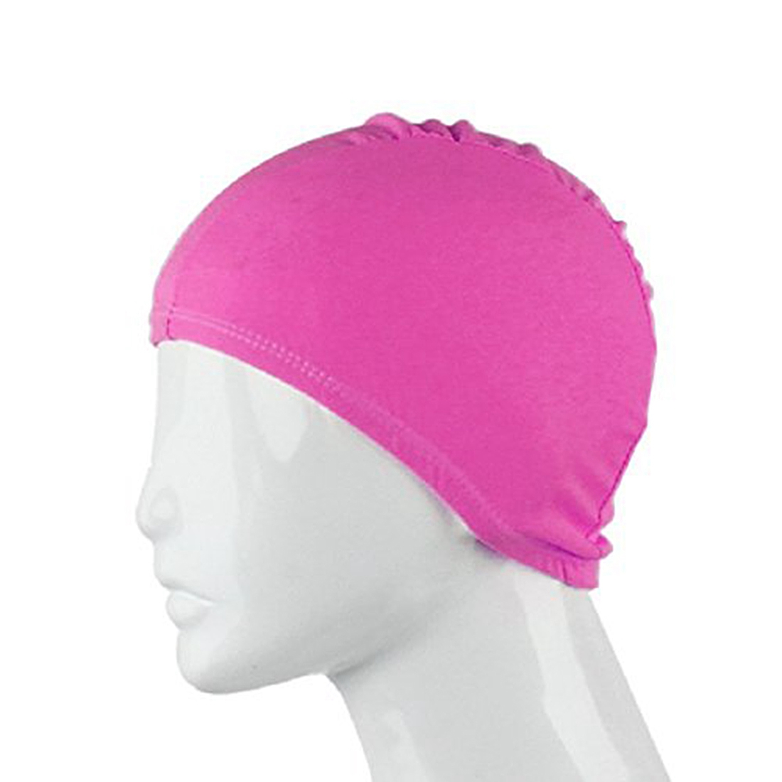 For Adult Swimming Hats Unisex Outdoor Sports Stretch Cap Rose red Lahore
