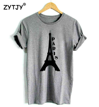 EIFFEL TOWER PARIS Letters Print Women Tshirt Cotton Casual Funny t Shirt For Girl Top Tee Hipster Tumblr Drop Ship HH-7