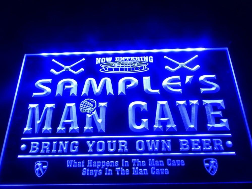 DZ035 Name Personalized Custom Man Cave Hockey Bar Beer