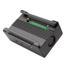 Top Deals Black Aluminum Alloy Case Shell Enclosure Box w/ Cooling Fan for Raspberry Pi Model B+
