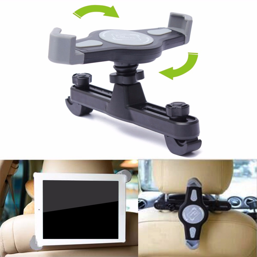 360 Degree Car Mount Back Seat Headrest Holder Stand Bracket For iPad 2 3 4 5 mini 7-11  ...