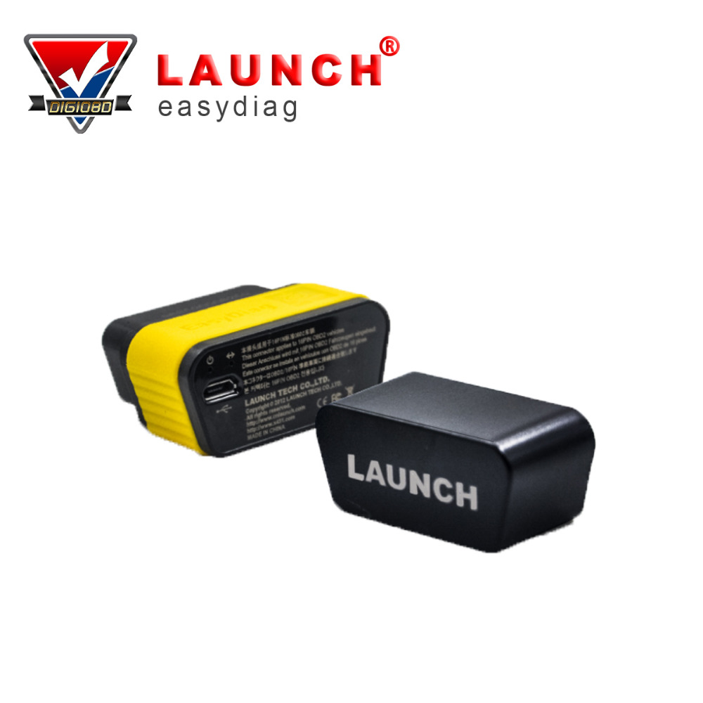 Launch X431 easyDiag obd2 scanner Original Diagnostic Tool Easydiag 2.0 for Android/iOS Scanner Update Via Launch Website launch x431 idiag connector full set package x 431 easydiag adapter launch x431 yellow box without b enz 38 pin adapter in stock