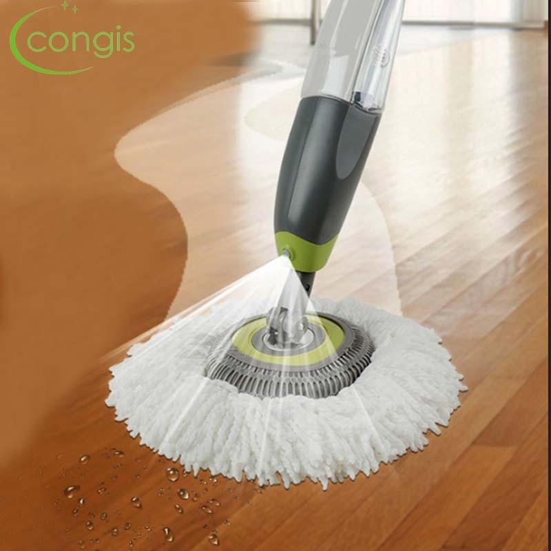 Congis Runde Kopf Spray Mopp Super Faser Mopp Kopf Aluminium Legierung Metall Griff 360 Grad Drehen Hause Boden Reinigung Schaber