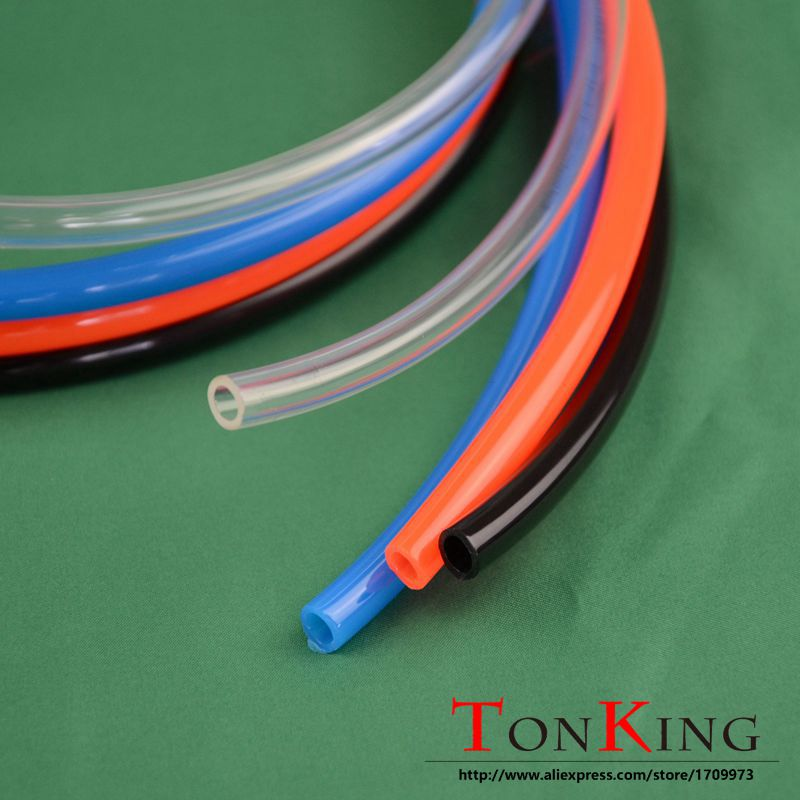 PU tube pneumatic hose OD4mm ID2.5mm polyurethane 1-180 M of arbitrary length 4 colors optional 5pcs 304 stainless steel capillary tube 3mm od 2mm id 250mm length silver for hardware accessories