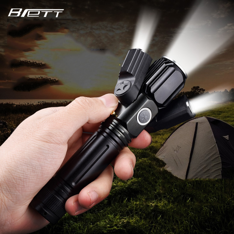 usb flashlight Cree xm l t6 plus 2 xpe light Outdoor multifunctional lighting Powerful led flashlight in LED Flashlights from Lights Lighting