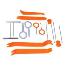 12 Uds Herramienta de extracción de coche Puerta de coche Panel de Radio Trim Dash instalador de eliminación de Audio Kit de herramientas para desmontaje de Audio de coche