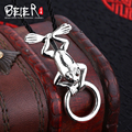 Lonely Frog Pendant Necklace Beier 925 silver sterling Pendant  unisex animal Jewelry gift for man and women  A0128
