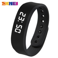 Smart Wristband SKMEI LED Women Smart Watch Pedometer Calorie Time Date Red Black Wristwatches Silicone Bracelet