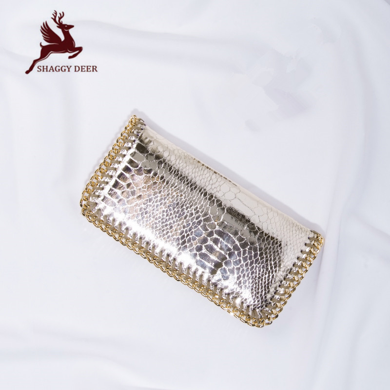 Luxury Lady Long style Shaggy Deer PVC Clutch Wallets Vintage Card Coin Stella Clutch Handbag mini gray shaggy deer pvc quilted chain bag with cover real picture