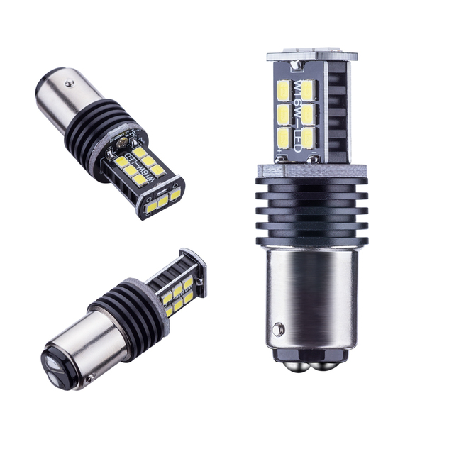 2pcs White 1157 12V 2835 SMD BAY15D led High Power lamp 21/5w led car bulbs brake Lights Source parking 12V  Canbus