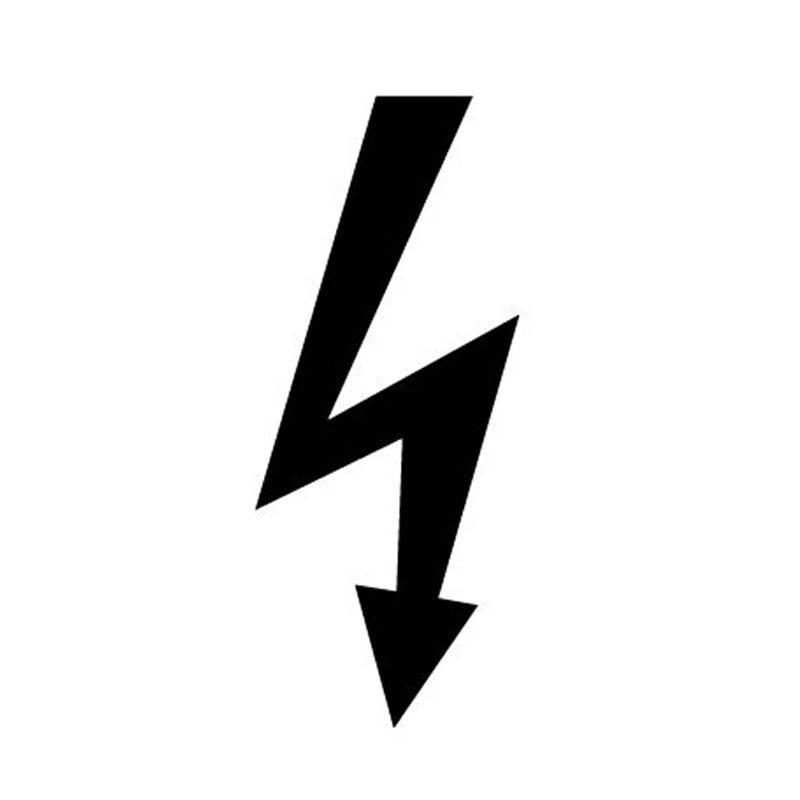 7*16CM ELECTRIC Car Sticker Decal Logo Reflective Warning ...