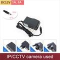 Ac100v-240v/dc12v 1a saída 2a adaptador de alimentação carregador de parede câmera ip cctv (2.1mm * 5.5mm) ue/EUA/REINO UNIDO/AU plug para opcional GANVIS