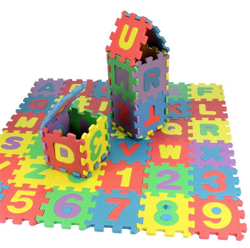 36 pcs children mini eva foam alphabet letters numbers floor soft baby mat puzzle early educational