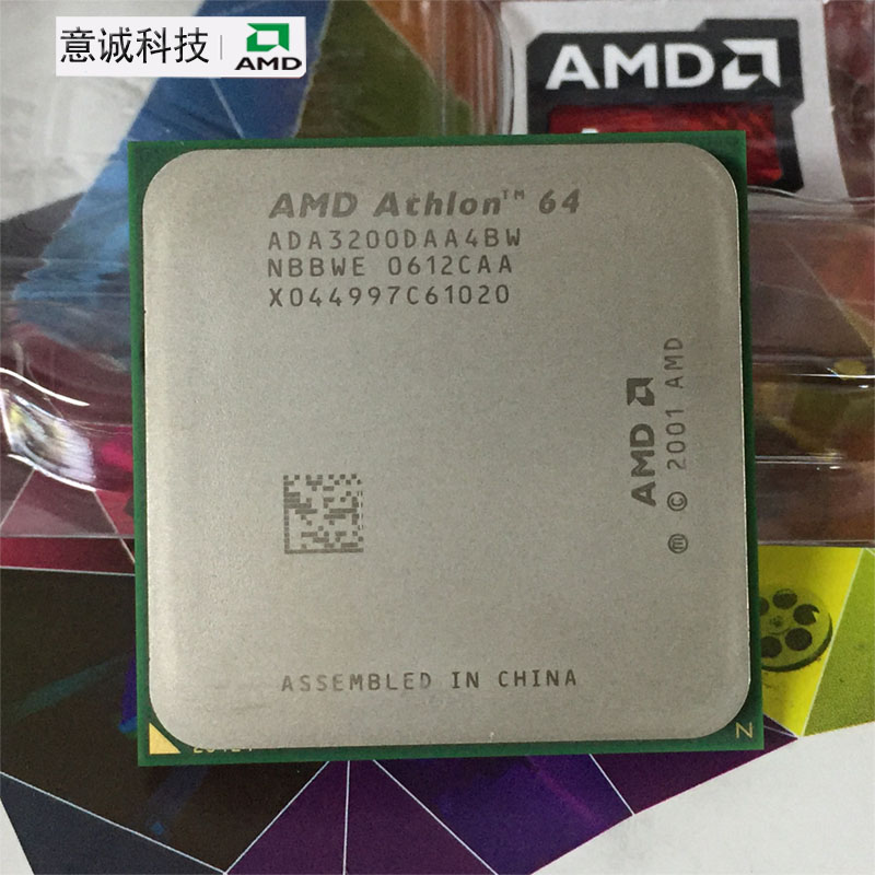 AMD CPU Processor Desktop-Socket 939 64 512K 3200 Working ADA3200DAA4BW 100-%