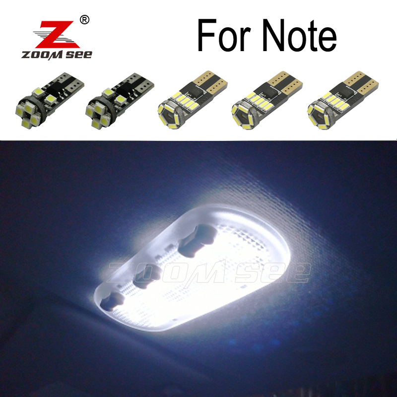 8pc x High quality White Error Free LED Interior bulb map dome light kit For Nisan Note E11 <font><b>E12</b></font> (2006-2018) image